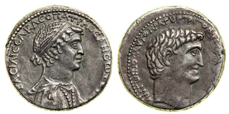 cleopatra and marc anthony coins